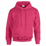 Adult Unisex Heavy Blend Pullover Hood Sweatshirt Safety Pink Front