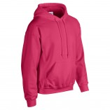 Adult Unisex Heavy Blend Pullover Hood Sweatshirt Safety Pink Side
