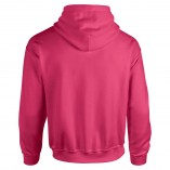 Adult Unisex Heavy Blend Pullover Hood Sweatshirt Safety Pink Back