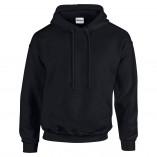 Adult Unisex Heavy Blend Pullover Hood Sweatshirt Black Front