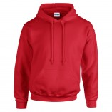 Adult Unisex Heavy Blend Pullover Hood Sweatshirt Red Front