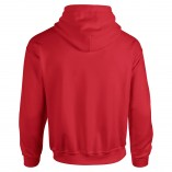 Adult Unisex Heavy Blend Pullover Hood Sweatshirt Red Back