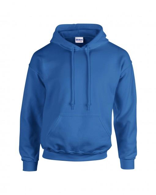 Adult Unisex Heavy Blend Pullover Hood Sweatshirt Royal Front