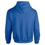 Adult Unisex Heavy Blend Pullover Hood Sweatshirt Royal Back