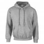 Adult Unisex Heavy Blend Pullover Hood Sweatshirt Sports Gray Front