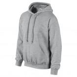Adult Unisex Heavy Blend Pullover Hood Sweatshirt Sports Gray Side