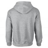 Adult Unisex Heavy Blend Pullover Hood Sweatshirt Sports Gray Back