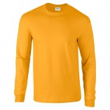 Adult Unisex Ultra Cotton Long Sleeve T-Shirt Gold Front