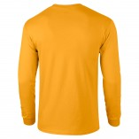 Adult Unisex Ultra Cotton Long Sleeve T-Shirt Gold Back