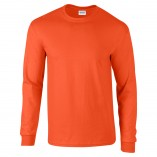Adult Unisex Ultra Cotton Long Sleeve T-Shirt Orange Front