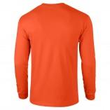 Adult Unisex Ultra Cotton Long Sleeve T-Shirt Orange Back