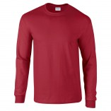 Adult Unisex Ultra Cotton Long Sleeve T-Shirt Cardinal Red Front