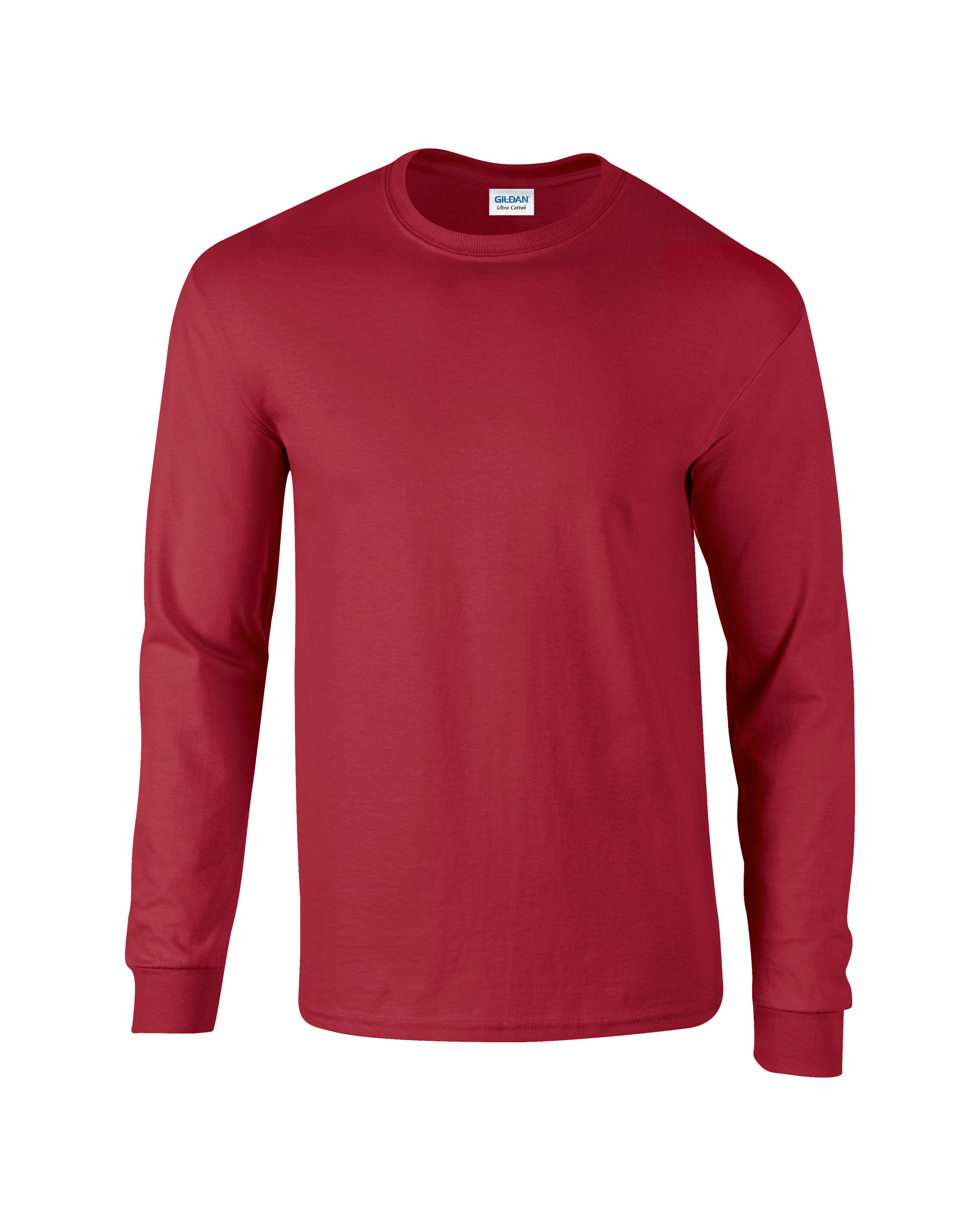 cb504a9f5995 ... Adult Unisex Ultra Cotton Long Sleeve T-Shirt Cardinal Red Front ...