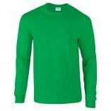 Adult Unisex Ultra Cotton Long Sleeve T-Shirt Irish Green Front