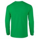 Adult Unisex Ultra Cotton Long Sleeve T-Shirt Irish Green Back