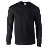 Adult Unisex Ultra Cotton Long Sleeve T-Shirt Black Front
