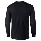 Adult Unisex Ultra Cotton Long Sleeve T-Shirt Black Back