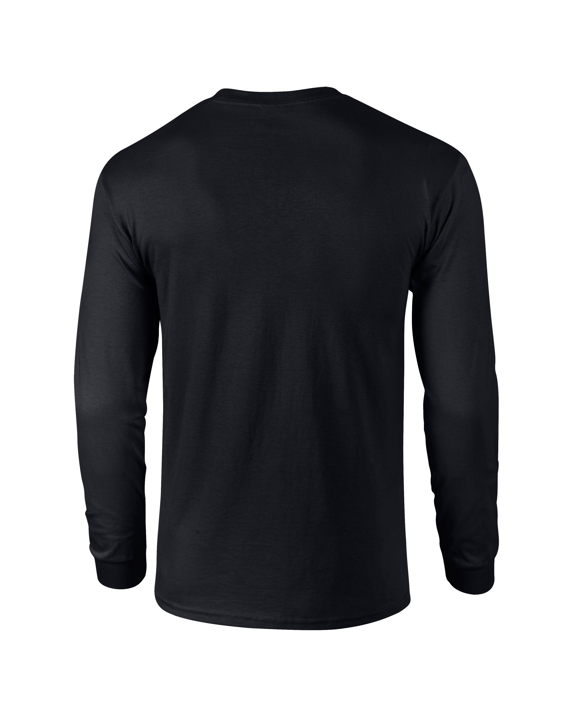 back of black long sleeve shirt