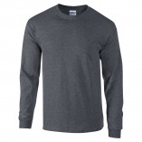 Adult Unisex Ultra Cotton Long Sleeve T-Shirt Dark Heather Front