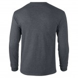 Adult Unisex Ultra Cotton Long Sleeve T-Shirt Dark Heather Back