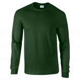 Adult Unisex Ultra Cotton Long Sleeve T-Shirt Forest Green Front