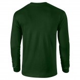 Adult Unisex Ultra Cotton Long Sleeve T-Shirt Forest Green Back