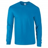 Adult Unisex Ultra Cotton Long Sleeve T-Shirt Sapphire Front