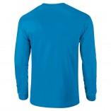 Adult Unisex Ultra Cotton Long Sleeve T-Shirt Sapphire Back