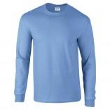 Adult Unisex Ultra Cotton Long Sleeve T-Shirt Carolina Blue Front