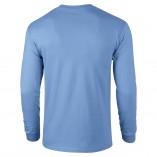 Adult Unisex Ultra Cotton Long Sleeve T-Shirt Carolina Blue Back