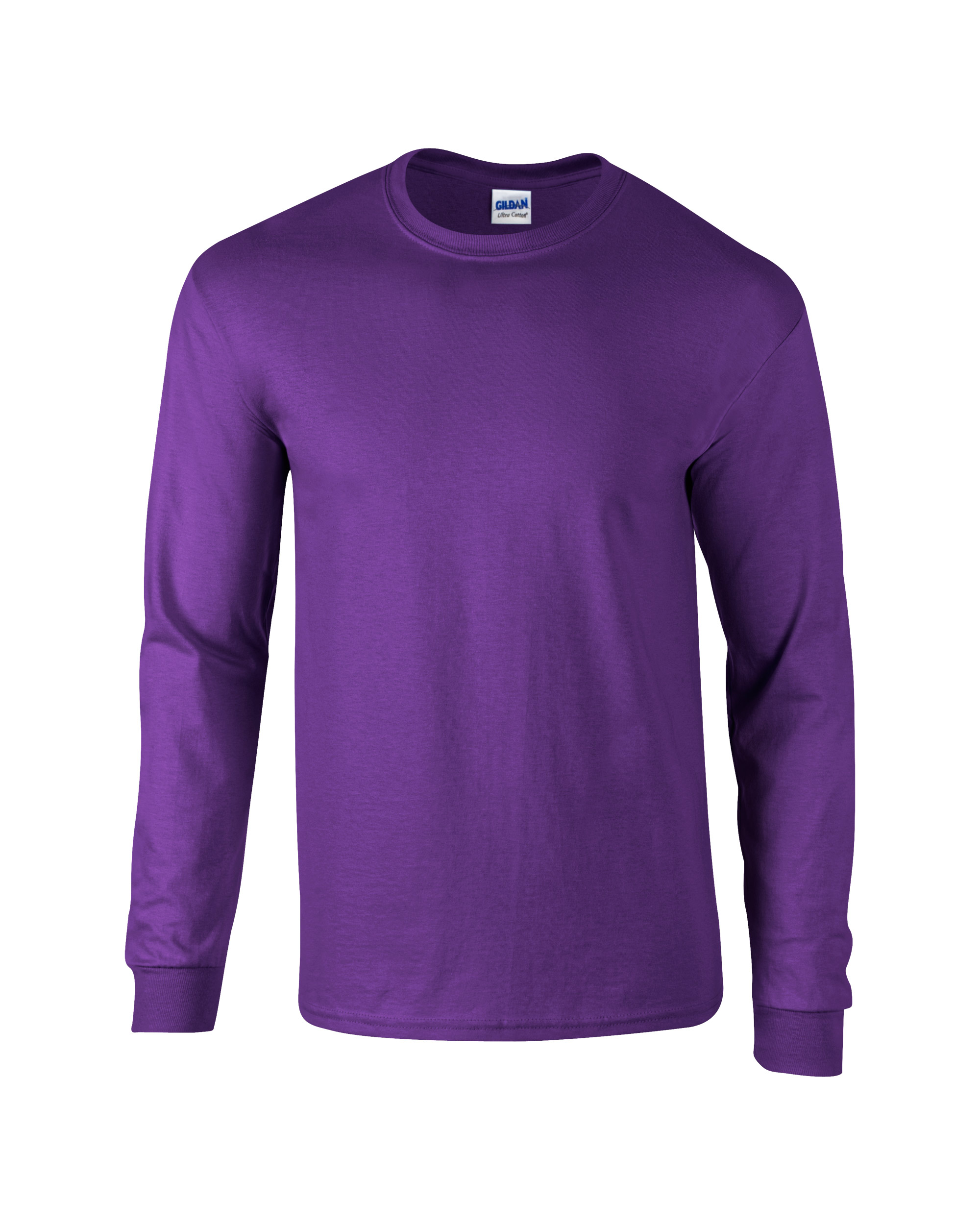 Uni Ultra Cotton Long Sleeve T Shirt Purple Front