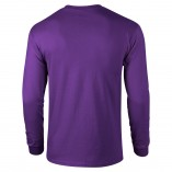 Adult Unisex Ultra Cotton Long Sleeve T-Shirt Purple Back