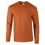 Adult Unisex Ultra Cotton Long Sleeve T-Shirt Texas Orange Front