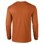 Adult Unisex Ultra Cotton Long Sleeve T-Shirt Texas Orange Back