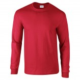 Adult Unisex Ultra Cotton Long Sleeve T-Shirt Red Front