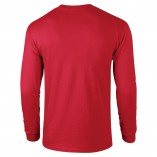 Adult Unisex Ultra Cotton Long Sleeve T-Shirt Red Back