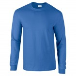 Adult Unisex Ultra Cotton Long Sleeve T-Shirt Royal Front