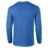 Adult Unisex Ultra Cotton Long Sleeve T-Shirt Royal Back