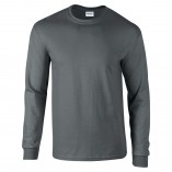 Adult Unisex Ultra Cotton Long Sleeve T-Shirt Charcoal Front