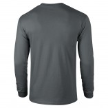 Adult Unisex Ultra Cotton Long Sleeve T-Shirt Charcoal Back
