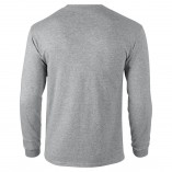 Adult Unisex Ultra Cotton Long Sleeve T-Shirt Sports Gray Back