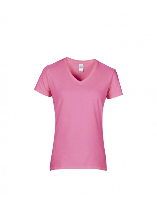 Women's Soft Style Junior Fit V-Neck T-Shirt Azalea