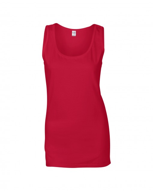 Soft Cotton-Tank Top Cherry Red