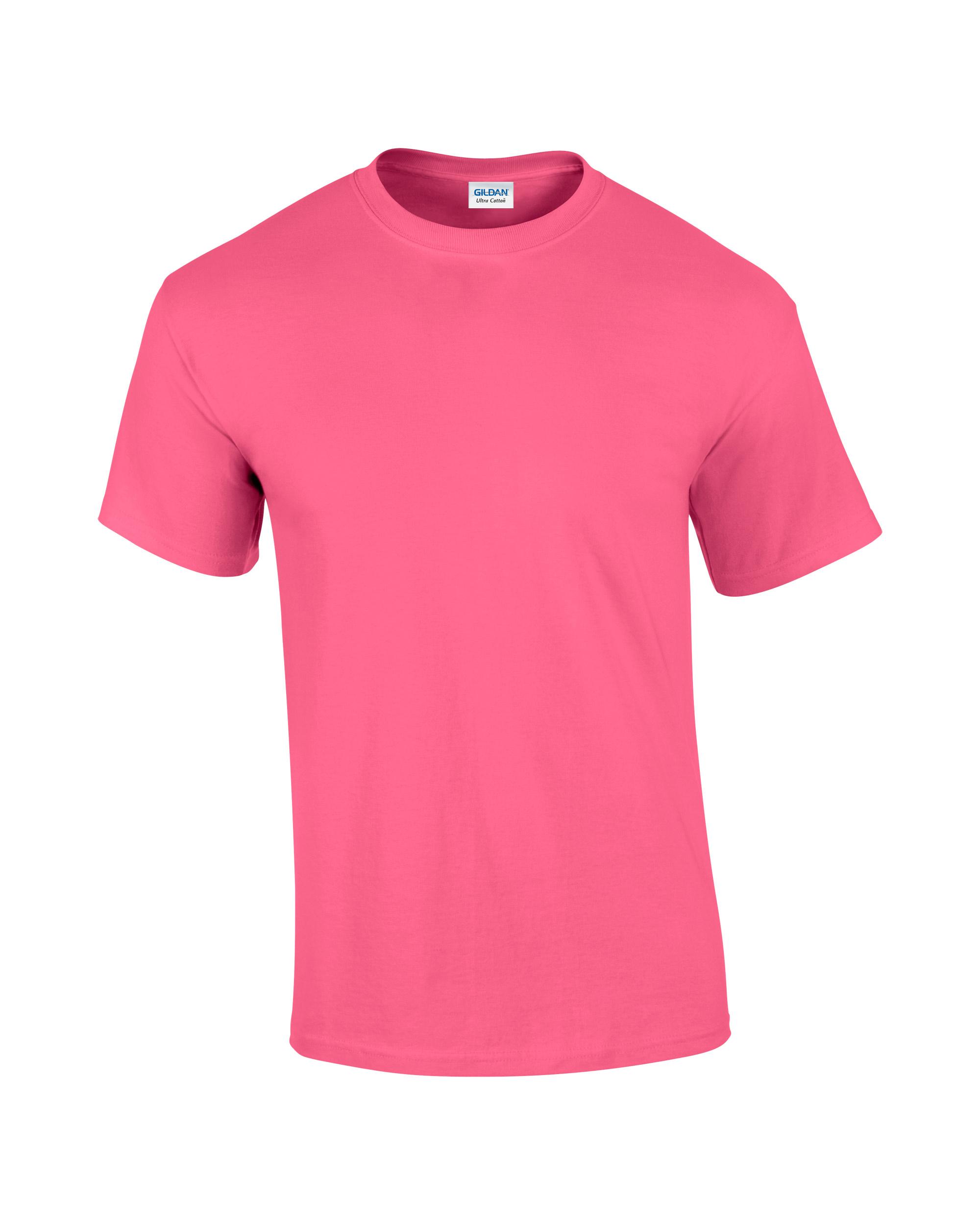 T shirt design red -  2000 1915c_safety Pink 6 0 Oz Ultra Cotton Mens Shirts Ladies Shirts