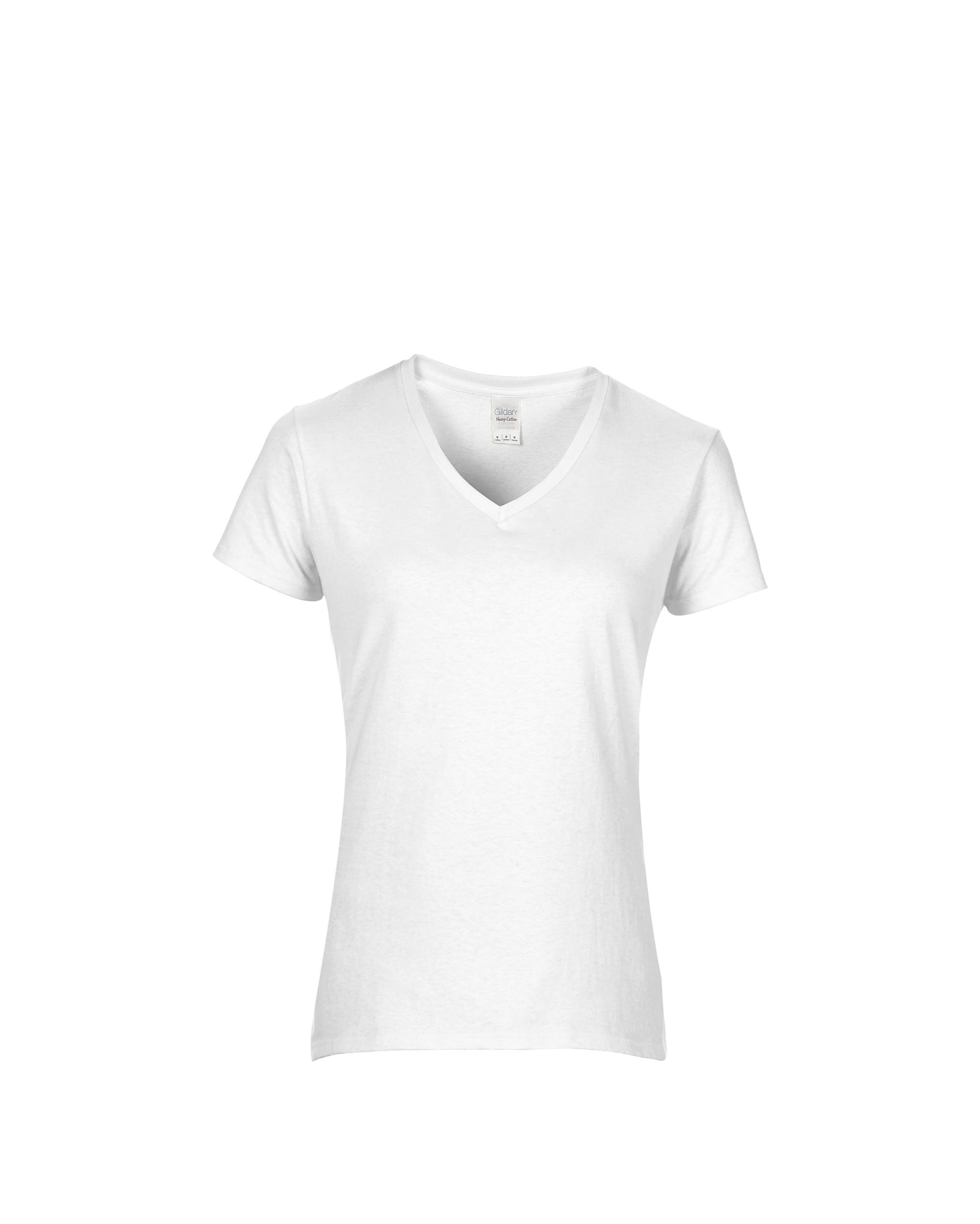 224c17289e Gildan Heavy Cotton™ Ladies' 5.3 oz. V‑Neck T‑Shirt - Team Shirt Pros
