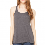 Bella Flowy racer back Dark Gray Heather B8800 Front