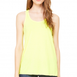 Bella Flowy racer back Neon Yellow B8800 Front